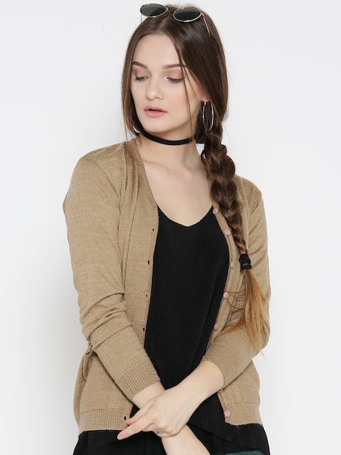 Fort Collins Women Brown Solid Cardigan