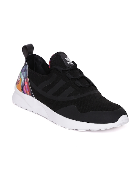 ADIDAS Originals Women Black ZX FLUX ADV Virtue Leather Sneakers