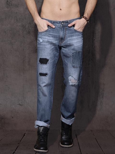 RDSTR Men Blue Slim Fit Mid-Rise Mildly Distressed Jeans
