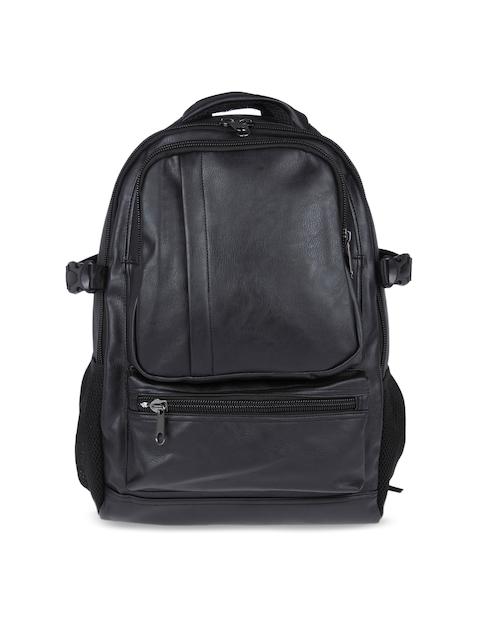 FUR JADEN Unisex Black Solid Backpack