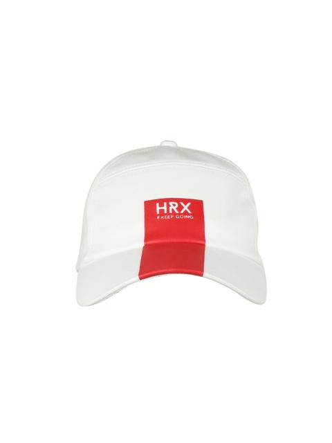 buy online 60453 88dd9 HRX by Hrithik Roshan Men White Solid Baseball Cap
