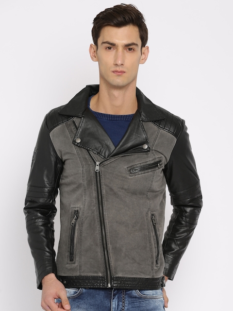 Being Human Men Grey Solid Tailored Jacket