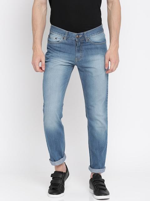 American Crew Men Blue Regular Fit Mid-Rise Clean Look Jeans