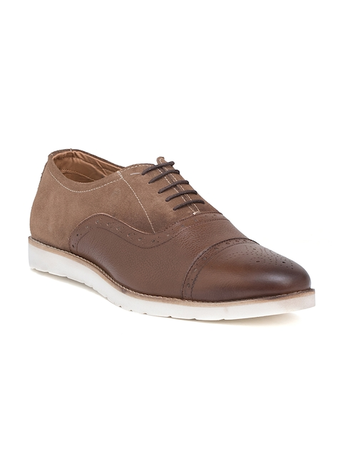 Bata Men Tan Rushdie Oxfords