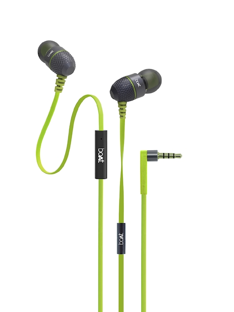 boAt Unisex Lime Green BassHeads 220 Super In-Ear Extra Bass Headphones