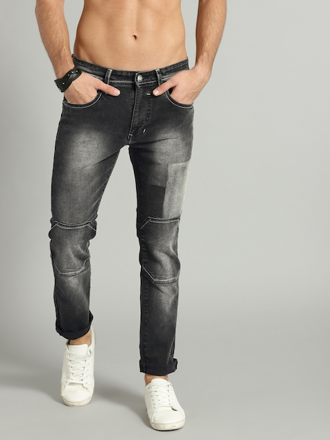 RDSTR Men Black Skinny Fit Mid-Rise Clean Look Stretchable Jeans