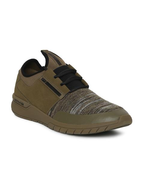216596ea49d0 Supra Men Olive Green   Brown FLOW RUN Sneakers Image