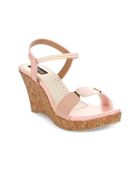 Shoetopia Women Pink Solid Sandals