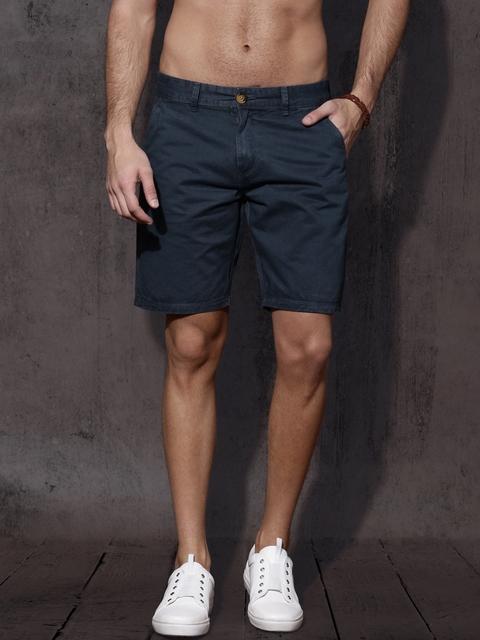 Roadster Men Blue Solid Regular Fit Shorts