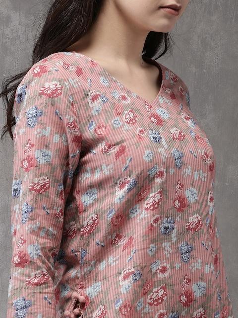 Anouk Women Pink Printed Straight Kurta 2
