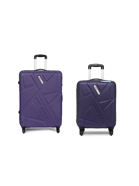 Safari Unisex Set of 2 Purple Anti-Scratch Trolley Suitcases in Small    Medium Size bd8e5940d3d65