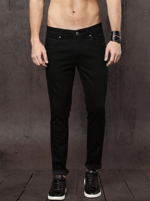 Roadster Time Travlr Men Black Skinny Fit Mid-Rise Clean Look Stretchable Jeans