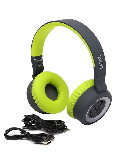 boAt Black & Green Rockerz 430 Bluetooth Headphones with Mic