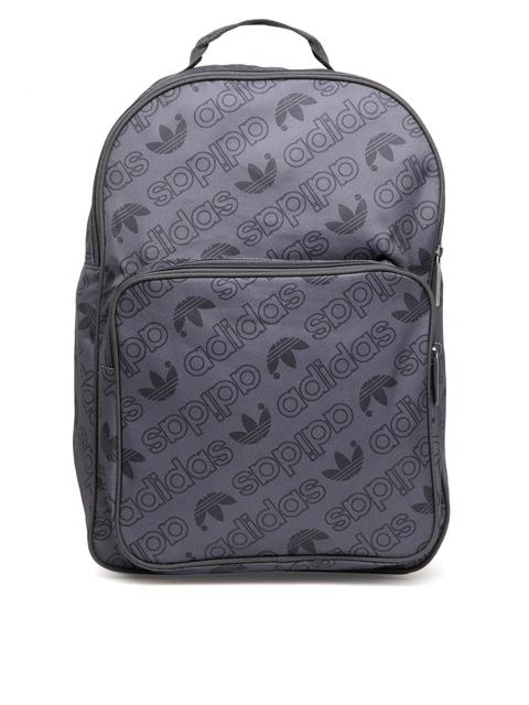 4c6280cd05 Adidas Originals Unisex Charcoal Grey Classic Printed Backpack