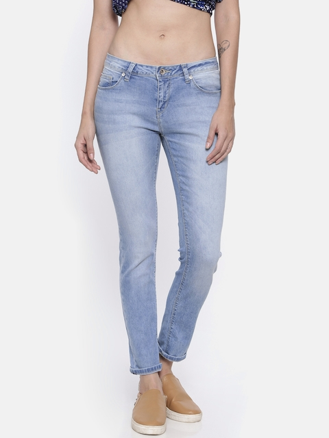 67476756 Lee Cooper Women Blue Annie Slim Fit Mid-Rise Clean Look Stretchable Jeans
