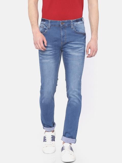 Indigo Nation Street Men Blue Slim Fit Low-Rise Clean Look Stretchable Jeans
