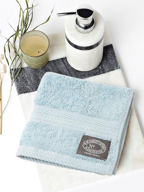 CHRISTY Blue Cotton 600 GSM Face Towel
