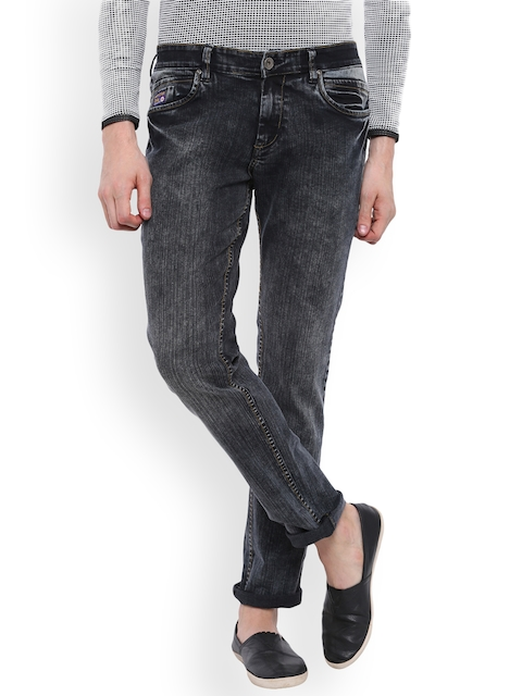 High Star Men Grey Slim Fit Mid-Rise Clean Look Stretchable Jeans