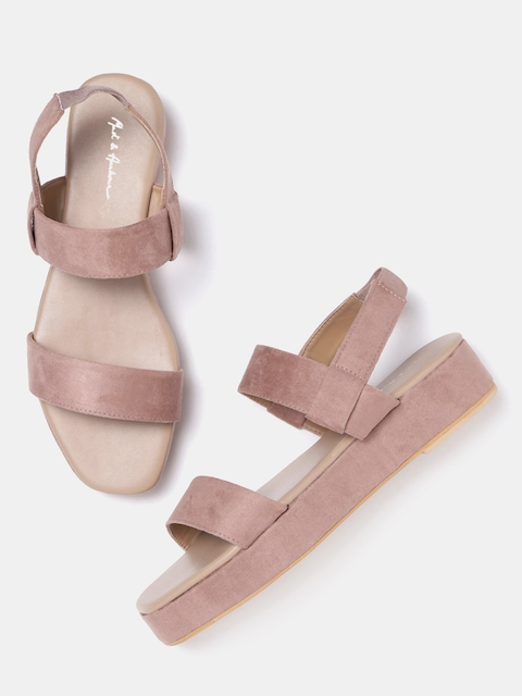 Mast & Harbour Women Dusty Pink Solid Flatforms