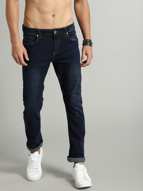 Roadster Roadster Fast and Furious Men Blue Slim Fit Mid-Rise Clean Look Stretchable Jeans