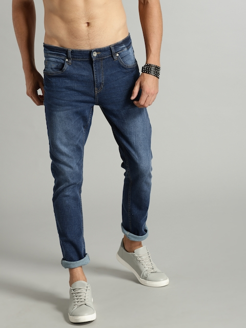 Roadster Fast and Furious Men Blue Slim Fit Mid-Rise Clean Look Stretchable Jeans