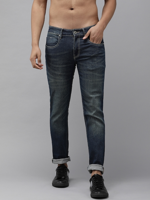 Roadster Fast and Furious Men Blue Slim Fit Mid-Rise Clean Look Stretchable Jeans 1