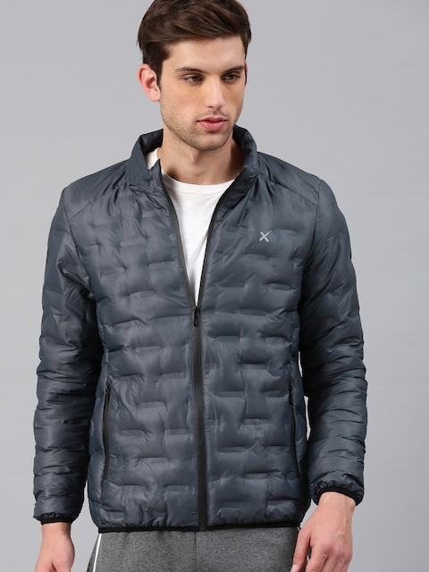 HRX by Hrithik Roshan Men Navy Blue Solid Outdoor Padded Jacket