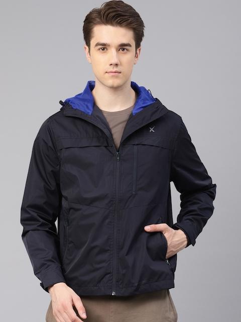 HRX by Hrithik Roshan Men Navy Blue Utility Active Jackets