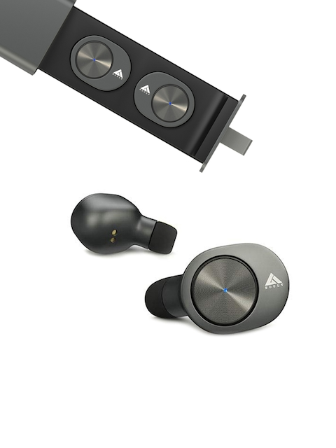 Boult Unisex Charcoal Grey TwinPods True Wireless HD Earbuds with Mic