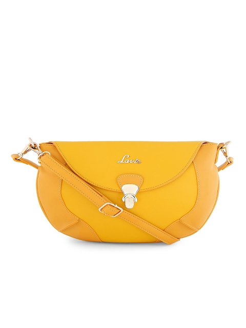 Lavie Yellow Solid Sling Bag