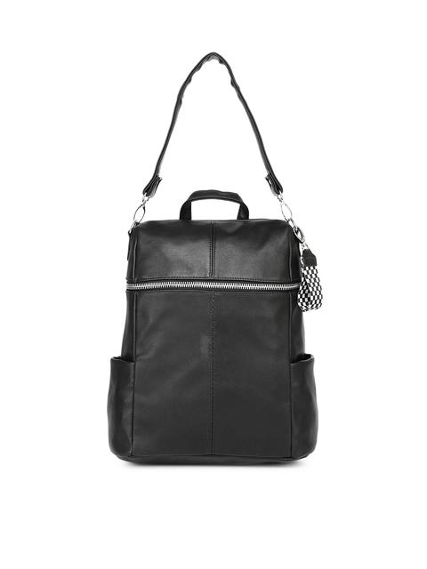 558040d11485 Steve Madden Women Black Solid Backpack cum Shoulder Bag