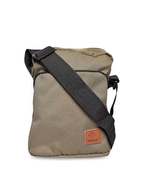 Admiral Khaki Textured Messenger Bag