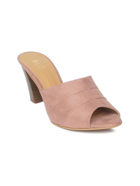 Inc 5 Women Pink Solid Heeled Sandals