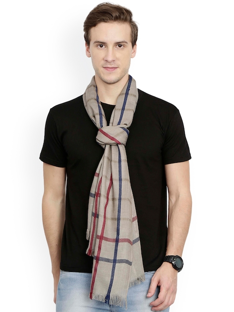 FabSeasons Unisex Beige Checked Scarf