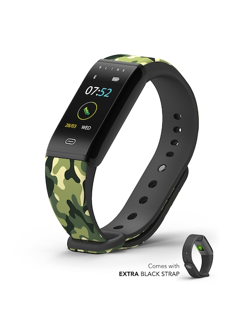Blink GO - Camo Black (extra Black Strap) Fitness Wearable Band