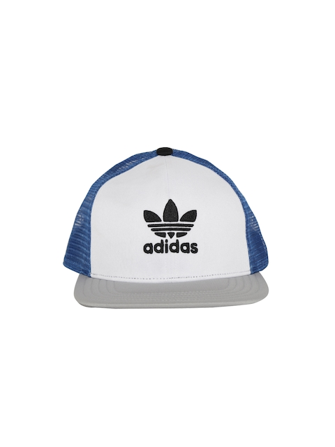 a7274605 Adidas Originals Unisex Grey & White T H TRUCKER CA Colourblocked Snapback  Cap