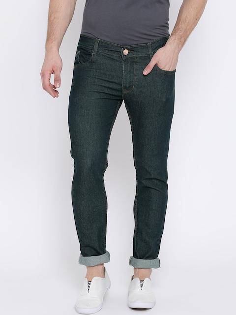 Teesort Men Green Slim Fit Mid-Rise Clean Look Stretchable Jeans