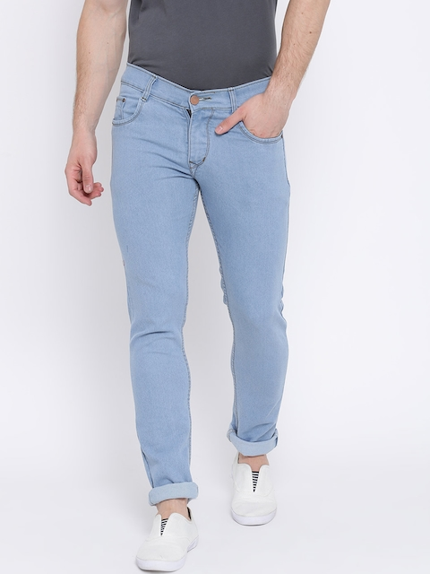 Teesort Men Blue Slim Fit Mid-Rise Clean Look Stretchable Jeans