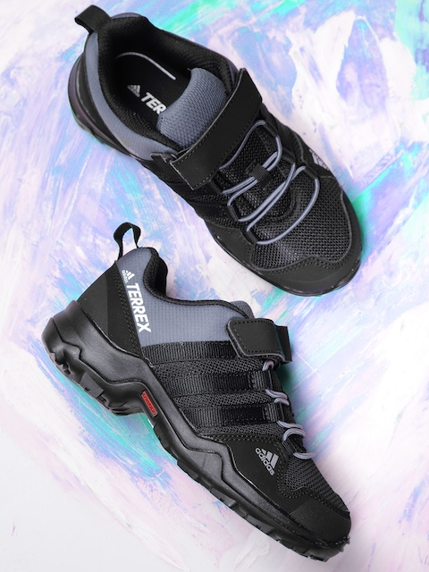 sale retailer de98c fe7aa Adidas Kids Black  Grey TERREX AX2R CF Hiking Shoes