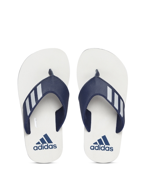 9cbe4bc97b7d1e Adidas Boys Navy Blue   White Coset Striped Detail Thong Flip-Flops