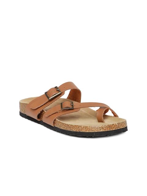 FOREVER 21 Women Tan Comfort Sandals
