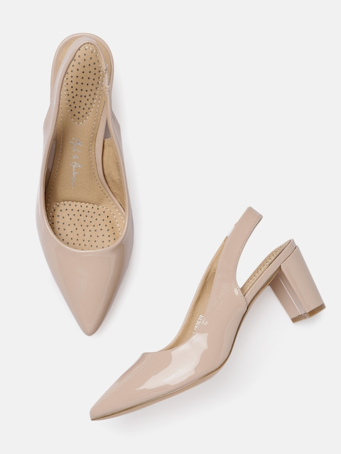Mast & Harbour Women Nude-Coloured Solid Pumps