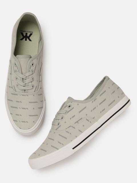 Kook N Keech Men Grey Printed Sneakers