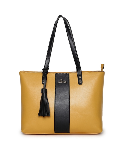 Lavie Mustard Solid Shoulder Bag