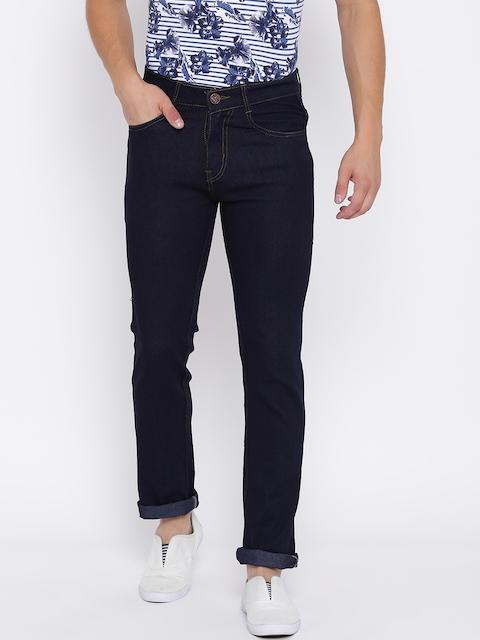 Teesort Men Blue Regular Fit Mid-Rise Clean Look Stretchable Jeans