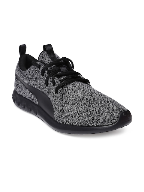 Puma Men Charcoal Grey Carson 2 Knit Running Shoes