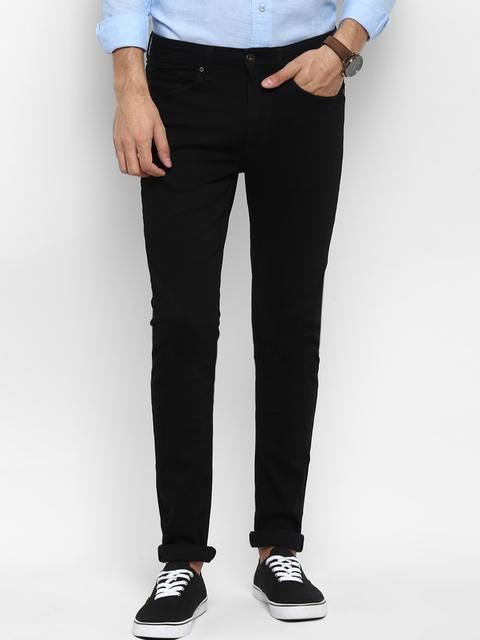 Red Tape Men Black Skinny Fit Mid-Rise Clean Look Jeans