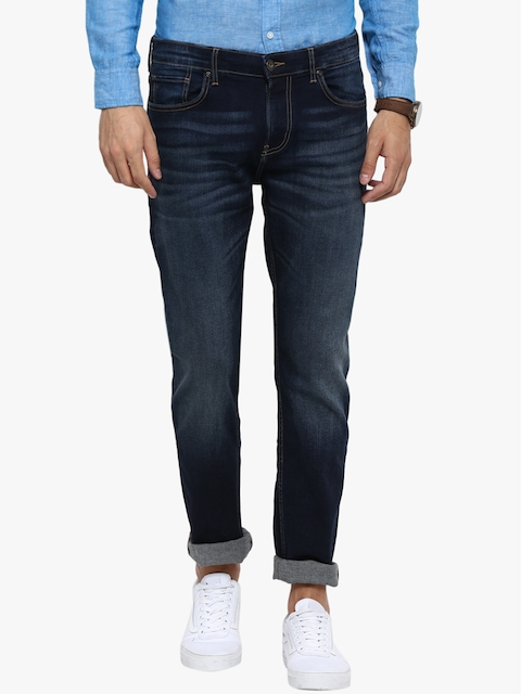 Red Tape Men Blue Slim Fit Mid-Rise Clean Look Stretchable Jeans