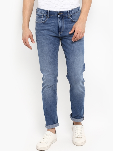 Red Tape Men Blue Slim Fit Mid-Rise Clean Look Jeans