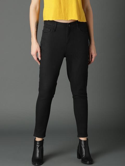 Roadster Women Black Skinny Fit High-Rise Jeans